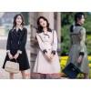 廣州品牌女裝尾貨 女式風衣 折扣女裝一手貨源